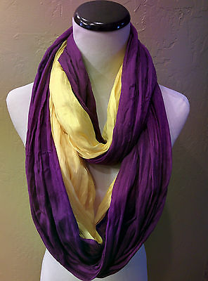 LSU Tigers  Team Colored  Double Shimmer Infinity scarves!