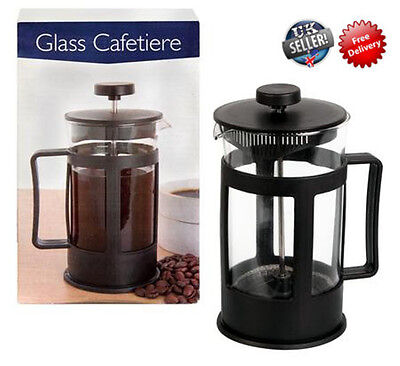 Cafetiere Black Coffee Plunger Press French Filter Cafe Maker Cup Classic Glass
