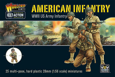 Bolt Action - World War 2 American US Infantry (25) (28mm scale)