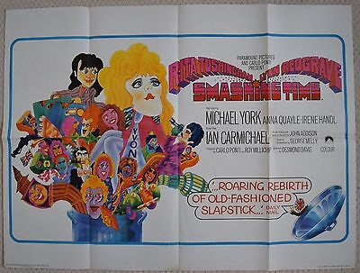 Smashing Time, Original UK Quad Poster, Rita Tushingham, Michael York, 1967