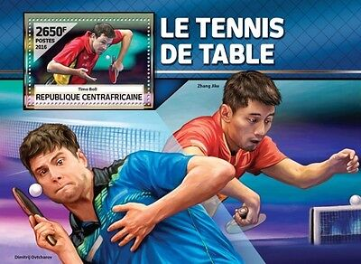 Z08 CA16504b CENTRAL AFRICA 2016 Table tennis MNH