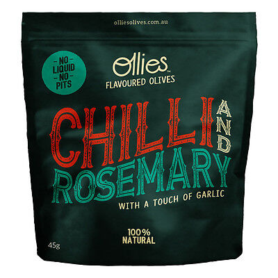 NEW Ollies Olives Chilli and Rosemary Olives