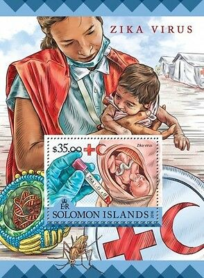Z08 SLM16224b SOLOMON ISLANDS 2016 Zika virus MNH