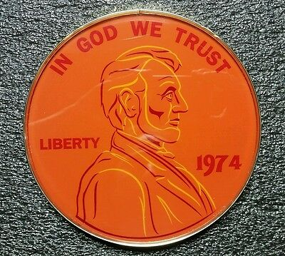 One Cent Penny 1974 In God We Trust Casino Sign