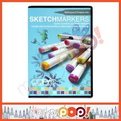 Copic Techniques & Projects with Sketch Markers DVD US AUTHORIZED RETAILER