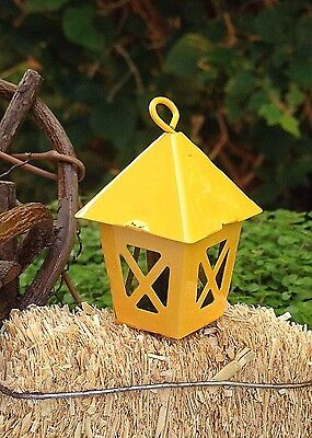 Miniature Dollhouse FAIRY GARDEN Accessories ~ Mini Metal Yellow Lantern ~ NEW