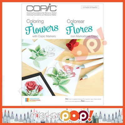 COPIC Coloring Foundations Book Collection - Flowers Book US AUTHORIZED RETAILER