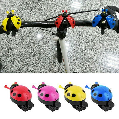 NEW Kid Beetle Ladybug Ring Bell For Cycling Bicycle Bike Ride Horn Alarm QJ