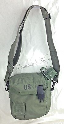 US Military LC-2 2-Quart Water Canteen Cover Carrier W Sling & Clips Olive Drab