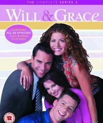 Will and Grace Complete Season 3 DVD Series Brand New & Sealed UK Original R2