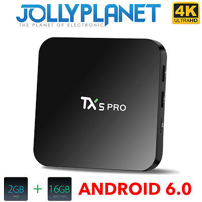 TX5 Pro Android 6.0 Marshmallow QuadCore S905X 2GHz 16GB 2GB KODI TV BOX 4K IPTV