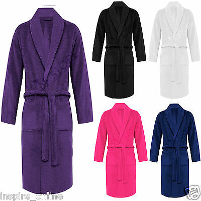 100% Luxury Egyptian Cotton Towelling Bath Robe Dressing Gown Terry Towel  Soft a02e4799f