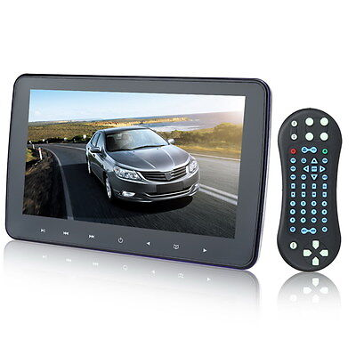 "Touch 10"" HD Digital LCD Car Headrest Monitor DVD/USB/SD Player IR/FM TV Game"