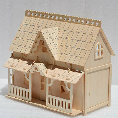24th DIY Wooden HDF Dolls house Miniature Kit  with Furniture  toy Crafts