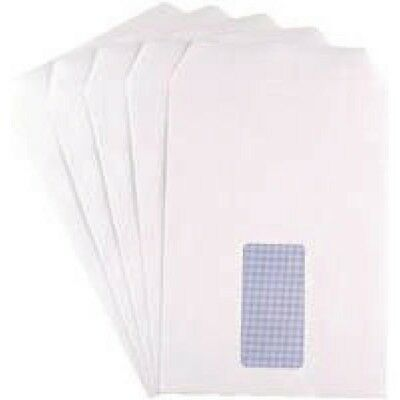 Q-Connect Envelope C5 Window 90gsm White Self-Seal Pack of 25 KF02718 Pack of 20