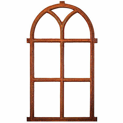 """Window frame in an antique style - cast iron with rust - 3´3x23"""""""" (100x59cm)"""""""