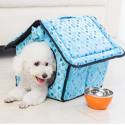 Indoor House Kennel Small Dog House Pet Cat Cave Bed Warm Mat Puppy Washable New