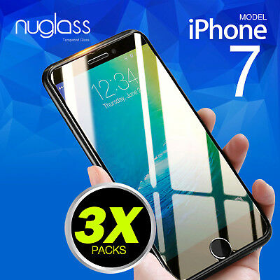2x Genuine Nuglas Tempered Glass Screen Protector for iPhone 7 4.7-inch