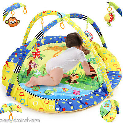 Baby Handstand Monkey Play Mat *FREE* Soft Sensory Crawling Toy Delux Playmat