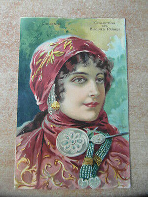 Belle CARTE POSTALE CPA CHROMO BISCUITS PERNOT DIJON Tamagno CHILIENNE CHILE
