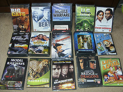 Job Lot 50 Brand New/sealed Dvd's  ~ Barcoded