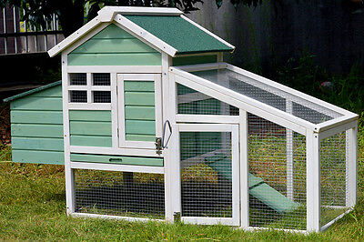 Medium Chicken Coop Rabbit Hutch Ferret Cage Hen Chook House For 2 Chickens