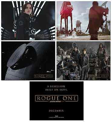 NEW - ROGUE ONE A STAR WARS STORY- 4 Card Promo Set #1 -  Jyn Erso Death Star