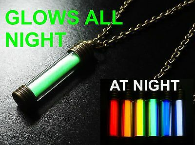 FAT TRITIUM Glows In The Dark For Decades! Glowring GTLS Necklace Pendant
