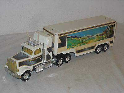 NYLINT - FREIGHTLINER BANDAG - TRANS EUROPA - VINTAGE TINTOY 70èr JAHRE 62cm USA