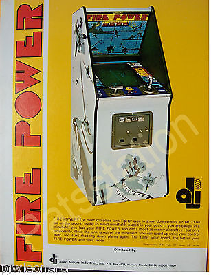 FIRE POWER - Allied Leisure Video Game Flyer