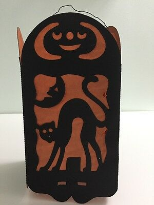 Vintage Halloween 4-Sided Lantern Beistle Made in Germany Paper Decor
