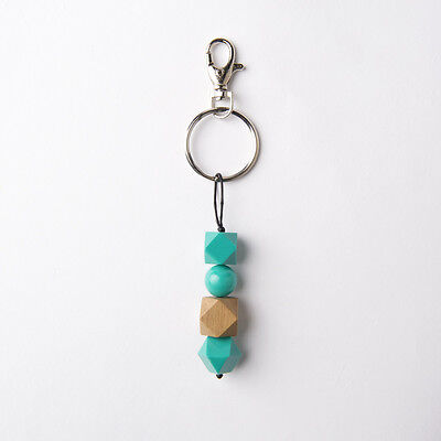 NEW Women's Ruby Olive South Pacific Beaded Keyring - Aqua