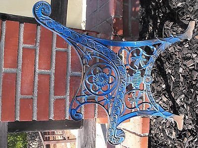 Antique Ornate Heavy Cast Iron French Regency Style Bench End Rail 1 End Only!