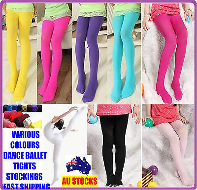 Kids Girl Dance Ballet Tight Stocking Tights Stockings Leg Opaque 80 Size S,m,l
