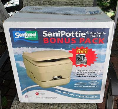 NIB SaniPottie 2.8 gal Portable Toilet Marine, RV & recreational USE SeaLand