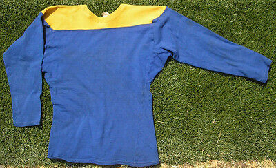 Vintage 1950's Southland Football Jersey, Youth Size, Blue & Gold or Yellow
