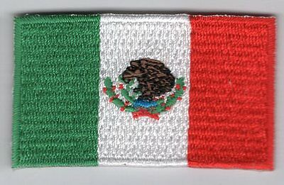 Mexico Flag Patch Embroidered Iron On Applique Mexican