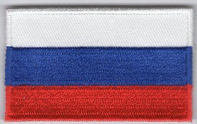Russia Flag Patch Embroidered Iron On Applique Russian