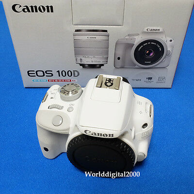 Canon EOS Rebel SL1(100D) Only Body  25 LanguagesSelectable (Color:White)