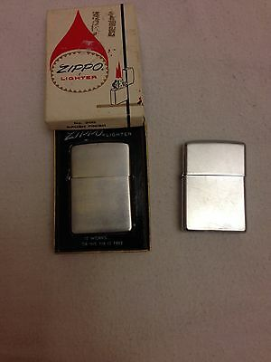 Lot Of 2 Vintage 1960s Zippo Lighter #200 Brush Finish Used Lighter with Box