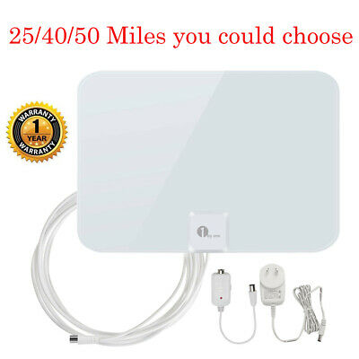 1Byone Digital Indoor HDTV TV Antenna High Gain Low Noise 1080P White Color