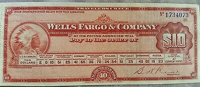 Wells Fargo & Company bank travelers check