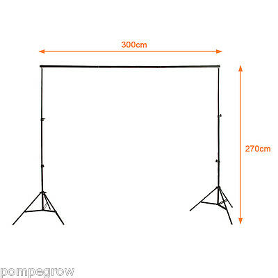 Excelvan 3mx2.7m Photo Studio Video Lighting Background Backdrop Support Stand