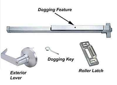 Door Push Bar-Panic Exit Device Lock Emergency Hardware Latches Aluminum Handle