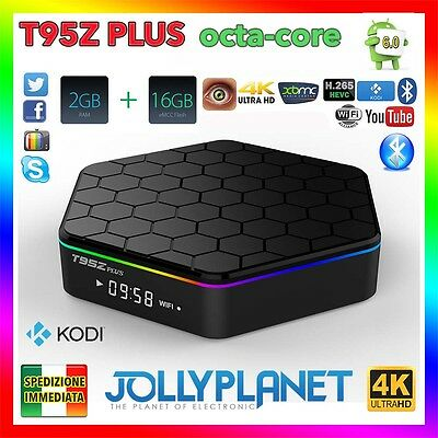 Android 6.0 T95Z Plus 2GB 16GB Octa-Core Kodi 64bit WIFI IPTV 4K Smart TV Box HD
