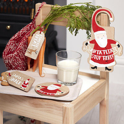 Santa WOODEN CHRISTMAS EVE KIT Treats Rudolph Snack STOP HERE SIGN GINGER RAY
