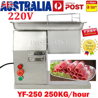 250Kg/Hr Stainless Steel Meat Cutting Machine Commercial Cutter Slicer 3mm Blade
