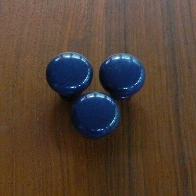 28 Navy Blue Heavy Metal Drawer Knobs  Modernist Style Perfect for Replacement