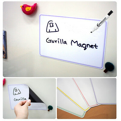 white dry erase Magnetic white board sheet Memo Menu Planner for Refrigerator
