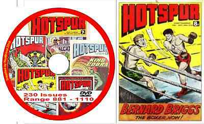 Hotspur 230 Issues range 881 - 1110 on DVD Action Comic + viewing software   (4)